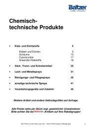 chemisch technische Produkte - Emil Baltzer Verbindungstechnik
