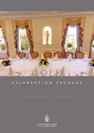 Gold Package (PDF download) – £82.50 per person - Beales Hotels