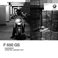 F 650 GS EQUIPMENT UPDATED - Barrie Robson Motorcycles
