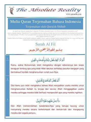 Mulia Quran Terjemahan Bahasa Indonesia Surah Al Fil