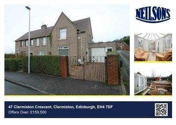 47 Clermiston Crescent, Clermiston, Edinburgh, EH4 7DF Offers Over