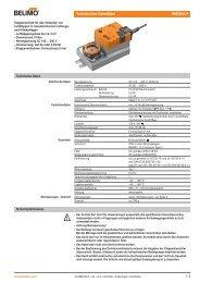 Technisches Datenblatt NM230A-F - Belimo