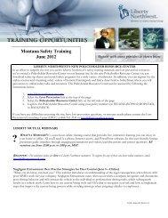 Montana Safety Training June 2012 - Montana Chamber of Commerce