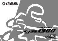 XJR1300 XJR1300SP OWNER'S MANUAL - Yamaha XJR