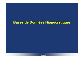 BD Hippocratiques - smis inria