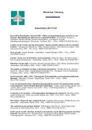 Aanwinsten 2011/5-8 - De Tiltenberg