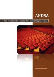 Asia Pacific Dental Students Association Congress Guide - APDSA