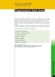 calendario programmazione teatro scuola 2012/2013 - Provincia di ...