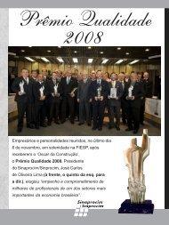 Prêmio Qualidade 2008. - Sinaprocim / Sinprocim