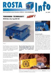 TENSIONING TECHNOLOGY! - ROSTA Inc.