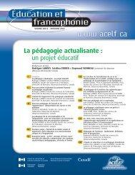 La pédagogie actualisante : un projet éducatif