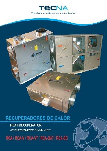 RCA / RCA-V / RCA-VT / RCA-BAT / RCA-DC - Tecna