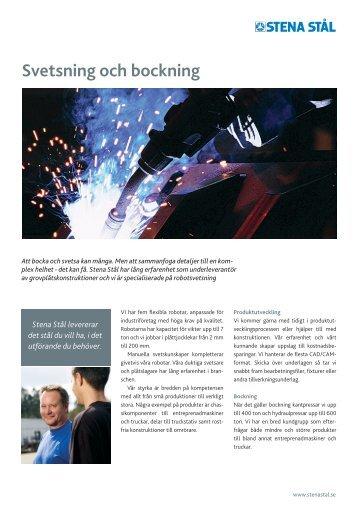 Svetsning och bockning - Stena Metall Group