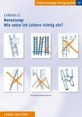 Unterweisungs-Kurzgespräch Leitern und Tritte - Seite 3