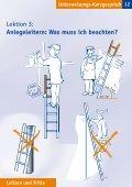 Unterweisungs-Kurzgespräch Leitern und Tritte - Seite 4