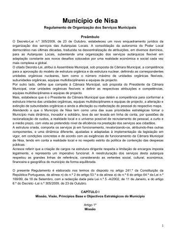 Regulamento de Organização dos Serviços Municipais - 2011