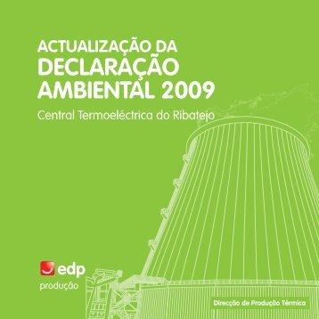 DECLARAÇÃO AMBIENTAL 2009 - edp - viva a nossa energia
