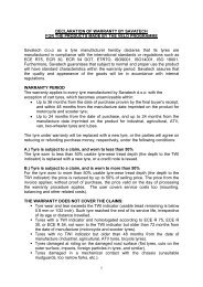 Warranty certificate (PDF) - Savatech