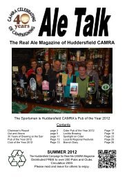 The Real Ale Magazine Of Huddersfield CAMRA