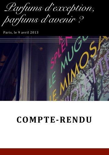 Parfums d'exception, parfums d'avenir ? - Premiumbeautynews.com