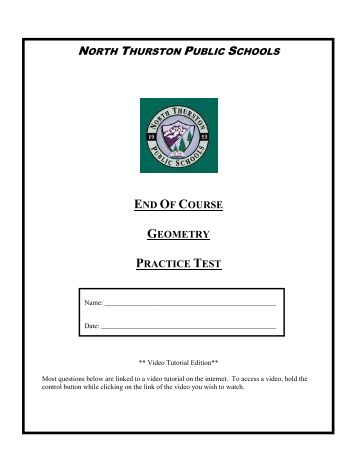 Geometry Item Specs Practice Test