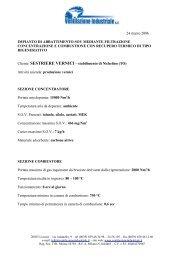 Riconcentratore Sestriere - Ventilazione Industriale