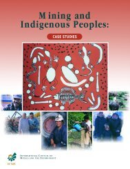 Mining and Indigenous Peoples: Case Studies - LandKeepers