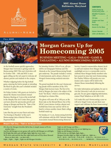 Homecoming 2005 - Morgan State University