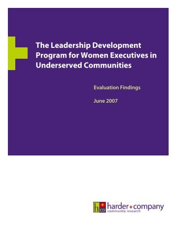 The Leadership Development Program for Women Executives in ...