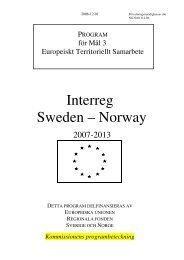 Interreg Sweden – Norway - Interreg Sverige Norge