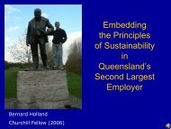 Embedding the Principles of Sustainability in Queensland's Second ...