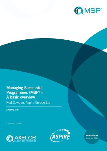 Managing Successful Programmes (MSP®): A basic overview - Best ...