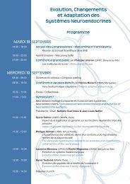 Programme Evolution, Changements et Adaptation des Systèmes ...