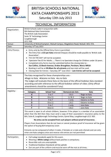 Technical Information - British Judo Association