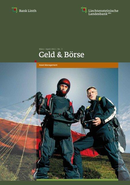 Geld & Börse - März / April 2011 - Bank Linth