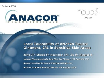 Local Tolerability of AN2728 Topical Ointment, 2% in ... - Anacor