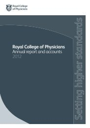 Royal College of Physicians Annual report and accounts 2012