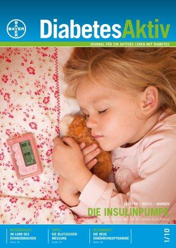 DIE INSULINPUMPE - Bayer-Diabetes-Blutzuckermessgerät