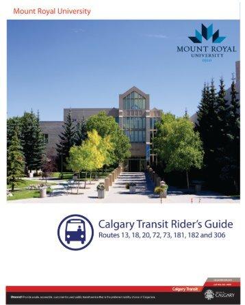 Mount Royal Univ. Rider's Guide - Calgary Transit