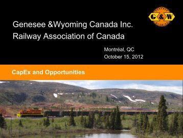 click here for PDF - Railway Association of Canada