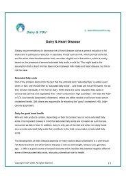 Dairy & YOU Dairy & Heart Disease - FIL-IDF - Nutrition