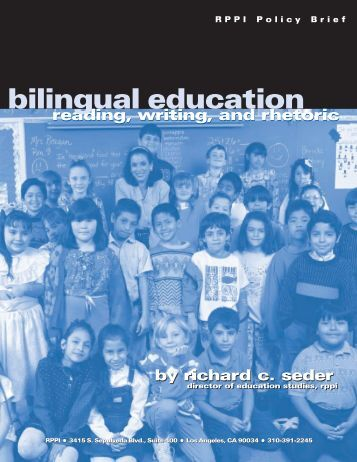 bilingual education - PolicyArchive