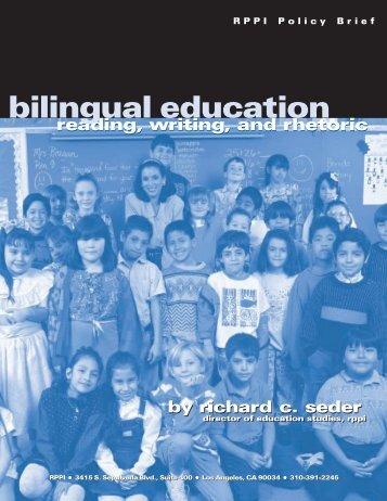 bilingual education - PolicyArchive