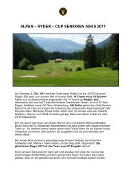 05.10.2011 5. Alpen-Ryder-Cup Region Süd im GC Alvaneu ... - ASGS