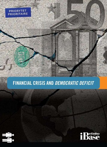 Financial crisis and democratic deficit - Ibase