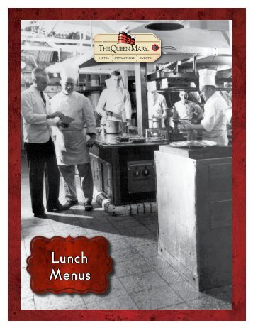 Lunch Menus - The Queen Mary