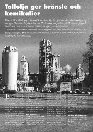 Tallolja ger bränsle och kemikalier - Novator