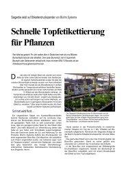 Schnelle Topfetikettierung für Pflanzen - Bluhm Systeme GmbH