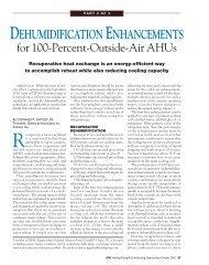 DEHUMIDIFICATION ENHANCEMENTS for 100-Percent ... - DOAS