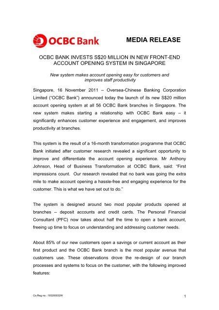 Media Release Rome - OCBC Bank